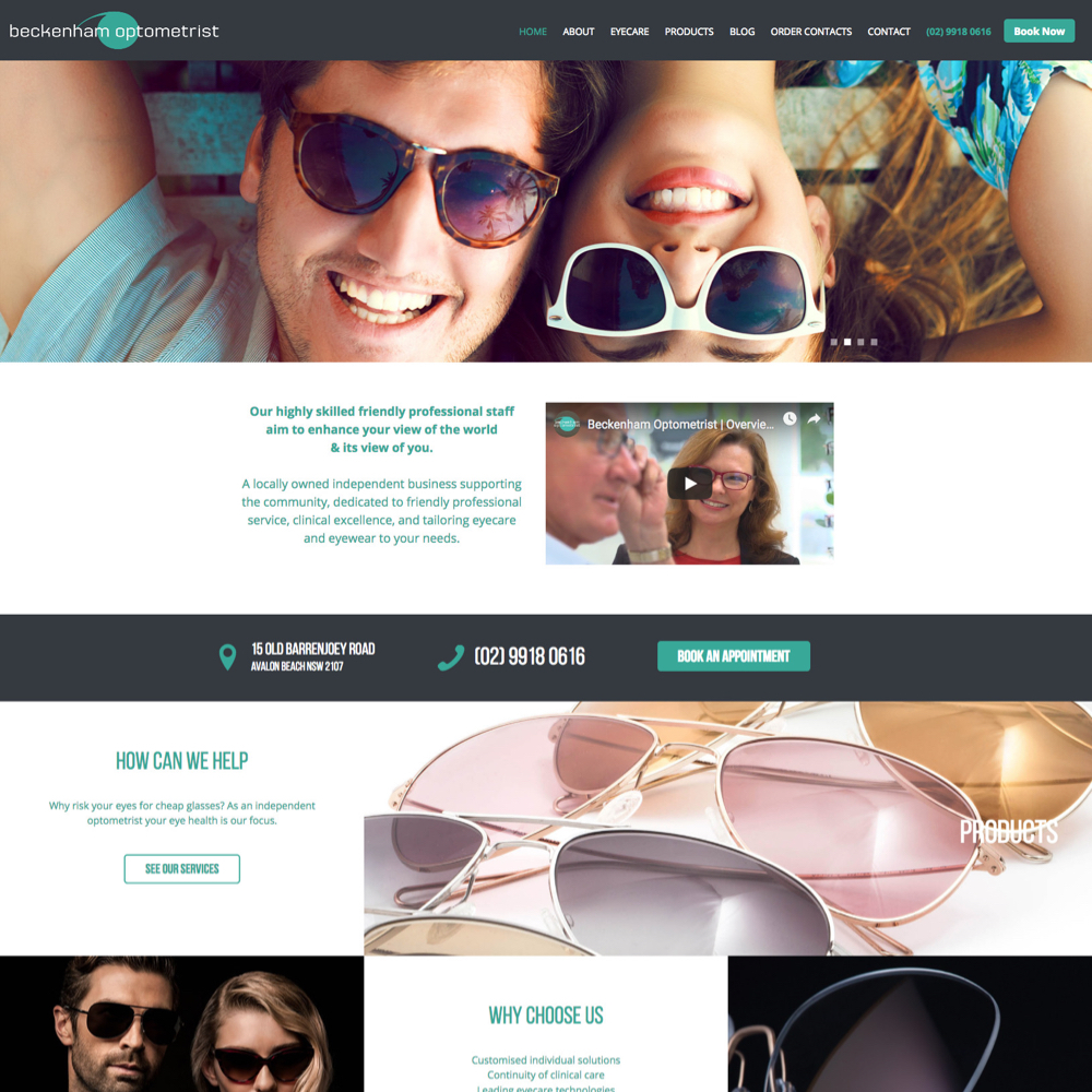 Beckenham optometrists - websites for optometrists