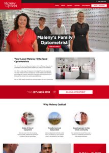 Maleny Optical - websites for optometrists